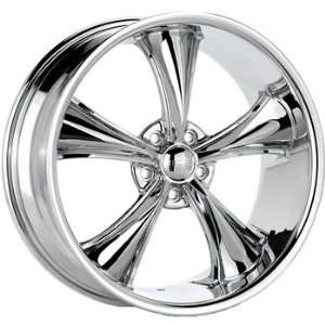 Boss 338 20x8.5 Chrome Wheel / Rim 5x4.75 with a 28mm Offset and a 82