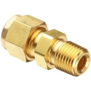 Parker CPI 6 6 FBZ B Brass Compression Tube Fitting, Adapter, 3/8
