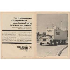 1961 Dillons Store Ford F 1000 Super Duty Truck Print Ad