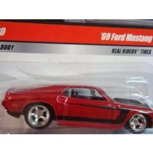 Larrys Garage Series Hot Wheels 69 Mustang Real Rider Red