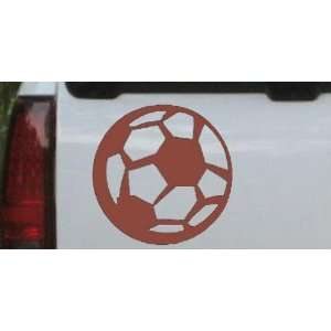 Soccer Ball Sports Car Window Wall Laptop Decal Sticker    Brown 3in X