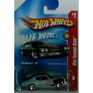 Hot Wheels 1970 Chevelle SS Primer Black, Red Flames Chrome ends