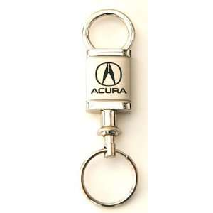 Acura Logo Satin Chrome Valet Keychain with Detachable
