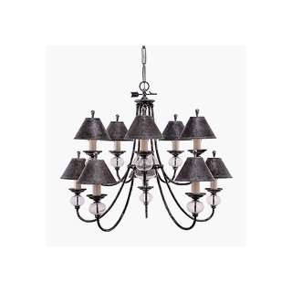 Sea Gull 3470 55 Manor House Chandelier Antique Pewter Diameter 40 1