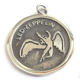 SILVER 925 Led Zeppelin Swan Song ZOSO PENDANT Necklace