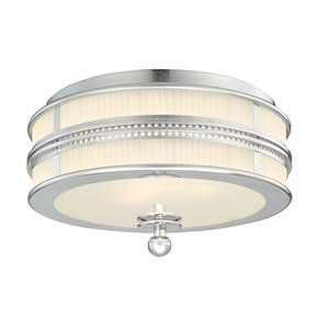 Sonneman 4893.35 Shanghai Polished Nickel Flush Mount