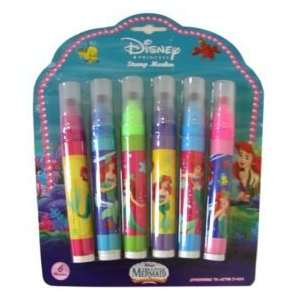 Disney Princess the Little Mermaid 6pcs Stamp Markers Set