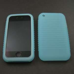Baby Blue Silicone Skin Case for Apple iPhone 4GB 8GB