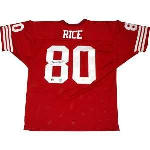 Jerry Rice Autographed Red Pro Style Jersey