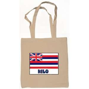 Hilo Hawaii Souvenir Canvas Tote Bag Natural Everything