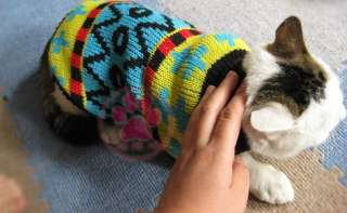 Pet Cat Dog Puppy Sweater Knitwear Coat Apparel Clothes xs/s/m