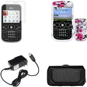 iFase Brand LG 900G Combo Red Flower on White Protective