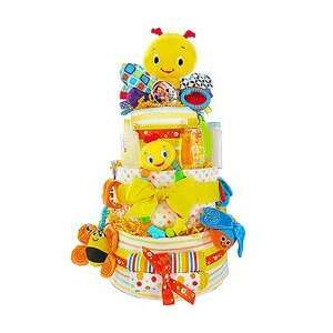 Busy Little Bugs 3 Tier Diaper Cake by Baby Gift Basket