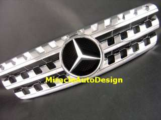 Chrome Front Grille For 96 05 Mercedes W163 M Class ML