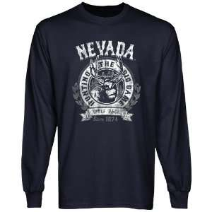 Nevada Wolf Pack The Big Game Long Sleeve T Shirt   Navy