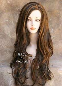 LONG LAYERS Side DARK BROWN MIX WIG HAIR JSCO 4 27