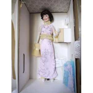Franklin Mint Jackie Kennedy Porcelain Doll in Pink Gown