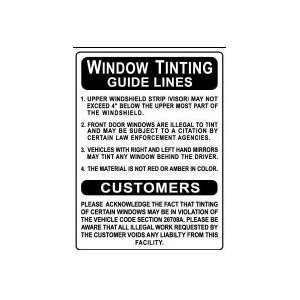 WINDOW TINTING GUIDE LINES 24x18 Heavy Duty Indoor/Outdoor Plastic