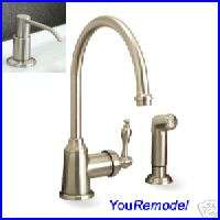 PREMIER NICKEL SINGLE HANDLE KITCHEN FAUCET & SOAP PUMP