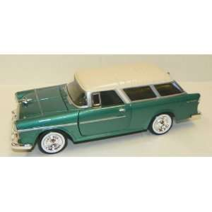 1955 Chevy Bel Air Nomad in Color Green with White Top Toys & Games