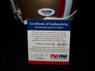 VERNON DAVIS SIGNED SAN FRANCISCO 49ERS MINI HELMET PSA/DNA