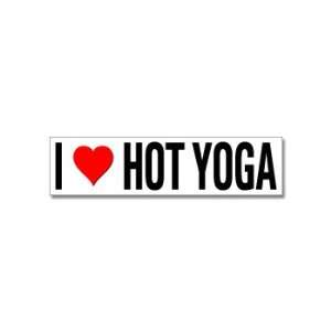 I Love Heart Hot Yoga   Window Bumper Stickers Automotive