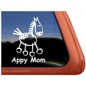 Appy Mom Appaloosa Stick Horse Trailer Vinyl Window Decal