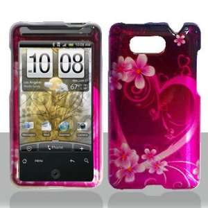 HTC Aria Purple Love Hard Case Snap on Cover Protector