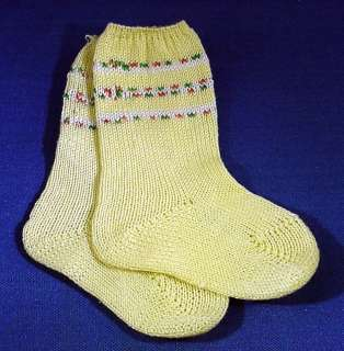 VINTAGE DOLSOX KNITTED COTTON BABY DOLL SOCKS for 22   24 BABY