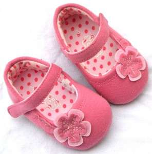 Pink Mary Jane kids toddler baby girl shoes size 4