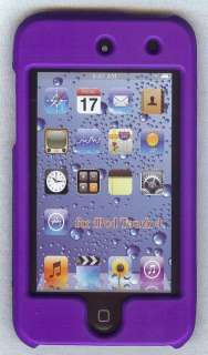 iPod Touch 4th Gen Purple Hard Plastic Case LCD Screen 8 32 64 G 8g