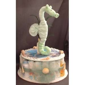 Ocean SEAHORSE Baby Shower Gift Sea Diaper Cake