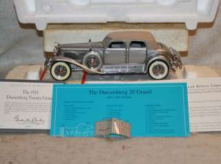 FRANKLIN MINT 124 Scale 1933 DUESENBERG TWENTY GRAND