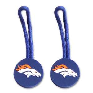 Denver Broncos Zipper Pull Charm Tag Set Luggage Pet Id