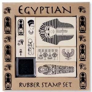 Plaid All Night Media Wood Mounted Stamp Set Egyptian