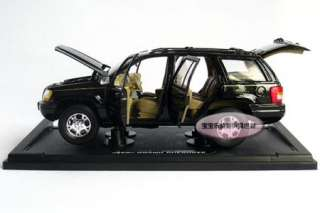 JEEP Cherokee 118 Alloy Diecast Model Car With Box Black B508