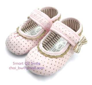 MOTHERCARE Girls Baby Shoe Pink Speckled Mary Jane soft