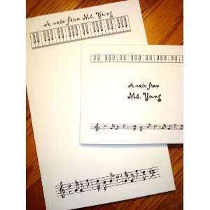Personalized Notepad & Thank You Note Cards Stationery Set