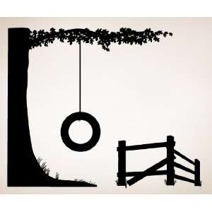 Vinyl Wall Art Decal Sticker Tire Swing #Cmunn102