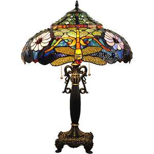 TIFFANY STYLE DRAGONFLY ANTIQUE TABLE LAMP LIGHT LAMPS LIGHTING NEW