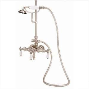 Bundle 49 Wall Mount Tub Faucet for Shower System with Hand Shower and