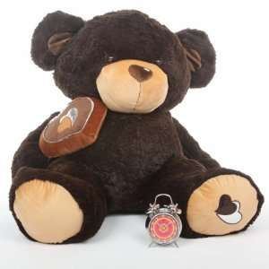 Sugar Pie Big Love Huge Cute Chocolate Brown Teddy Bear