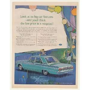 1962 Ford Fairlane 500 Big Car Features Low Price Print Ad
