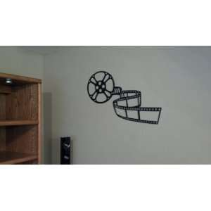 Home Theater Decor Movie Reel 3ft Black Metal Wall Art
