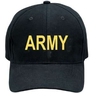 Rothco Black Army Low Profile Cap
