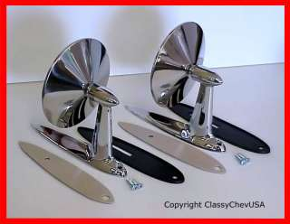 1955 1956 1957 STD & CVX DOOR Mirrors Chevy Bel Air 2pc