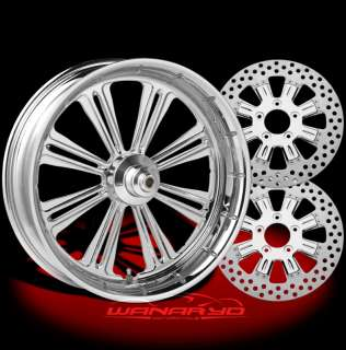 CHROME PERFORMANCE MACHINE RIVIERA WHEELS, ROTORS, PULLEY TIRES HARLEY