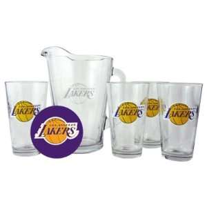 Los Angeles Lakers Pint Glasses and Pitcher Set  L.A. Lakers