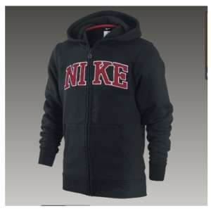 New Nike Classic Fleece Full Zip Hoody Black Jr (Boys)