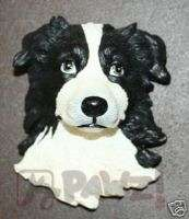 BORDER COLLIE   Soft Sculpture Dog Head Fridge Magnet